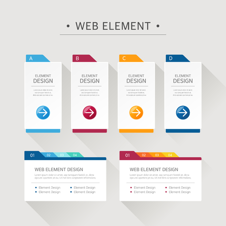 web design elements: Web Element Design Set