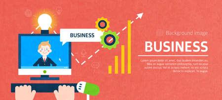 global settings: business illustration