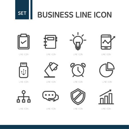 pc icon: Business line Icon set