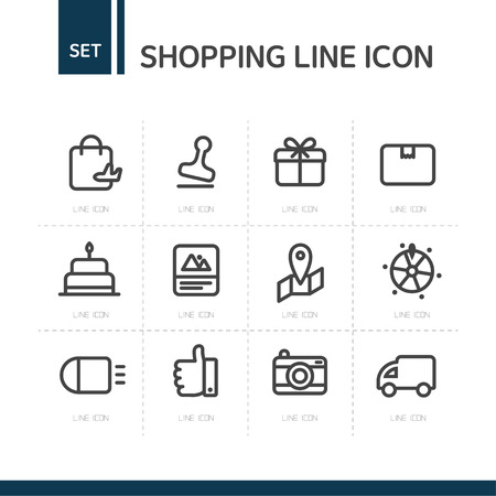 fastball: Shopping line Icon set
