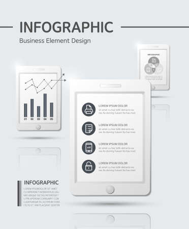 excel: business infographic Illustration