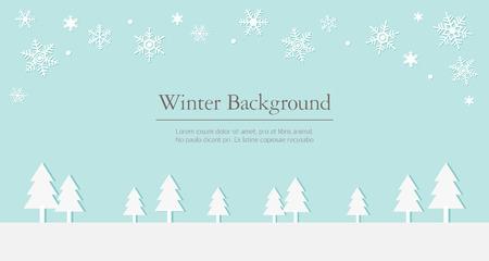winter scenery: winter background illustration Illustration