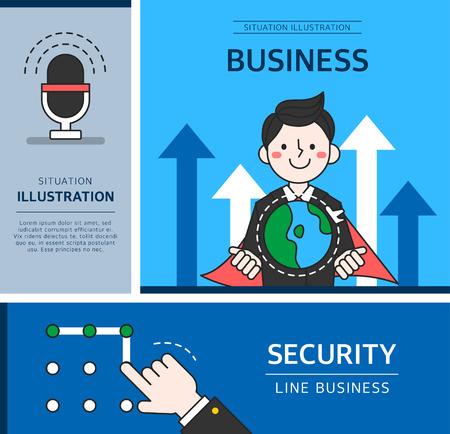 manos limpias: ilustración de negocios