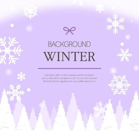 mauve: winter background illustration Illustration
