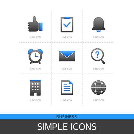 illust: Business Simple Icon Set