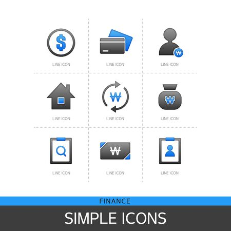 approval rate: Finance Simple Icon Set
