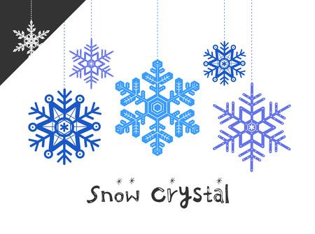 illust: snow crystal illustration