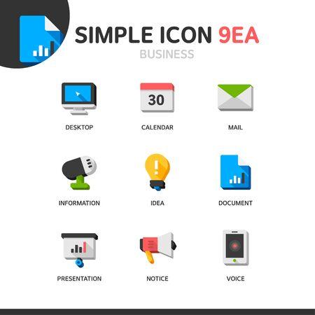 voluminous: Business Simple Icon Set