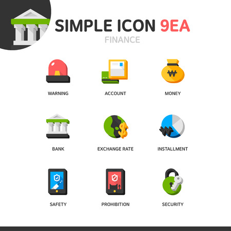 foreign exchange rates: Banking Simple Icon Set
