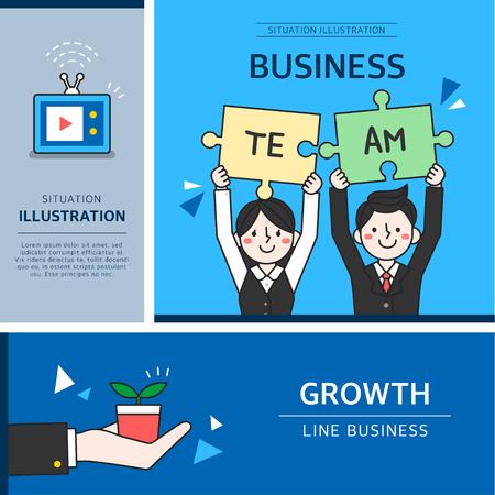 üzlet: business illustration