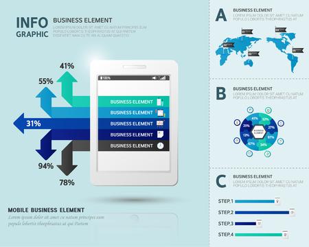 business infographic Illusztráció