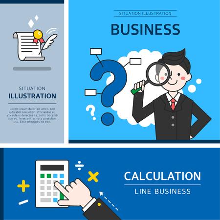 warranty questions: business illustration