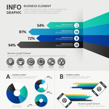 business infographic Ilustração