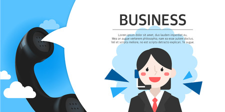clouds background: business illustration