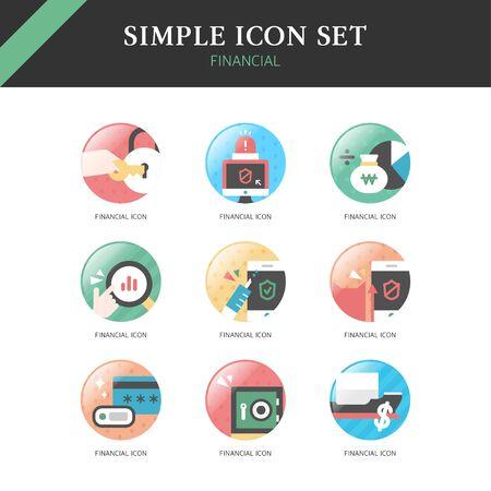 good break: Banking Simple Icon Set