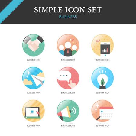 eco notice: Business Simple Icon Set