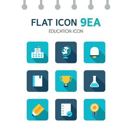 admissions: Education Flat Icon Set