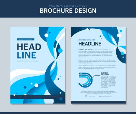 flexible business: Business Brochure Illustration Illustration