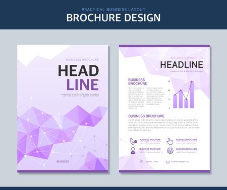 Business Brochure Illustration Иллюстрация