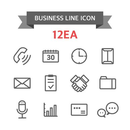 announced: Icon line business Illustration