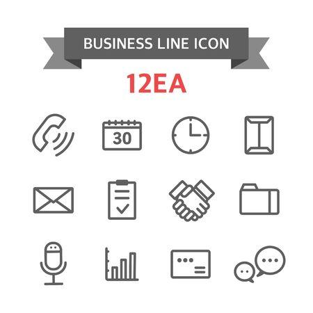 Icon line business Illustration