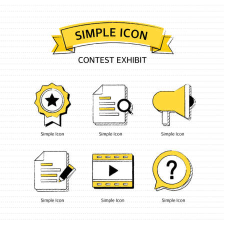 contest: Vector contest exhibit simple icon set