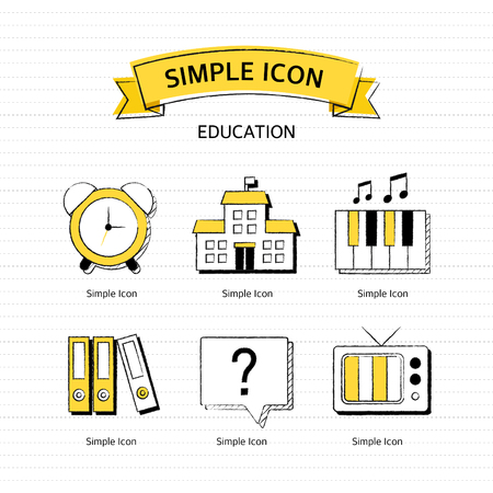 inquiry: Vector education simple icon set