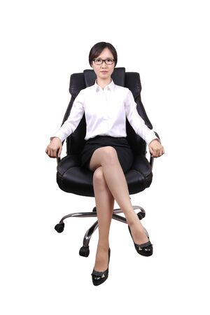 expressionless: business woman Stock Photo