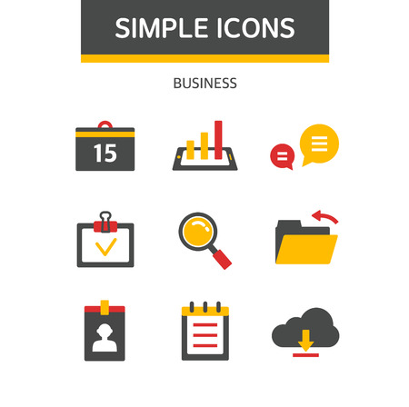 psd: business simple icon