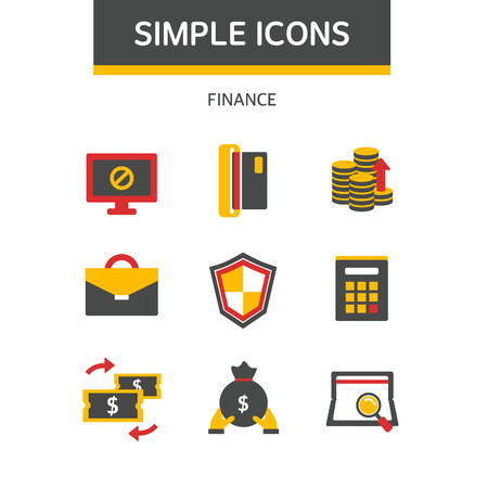 grow money: finance simple icon