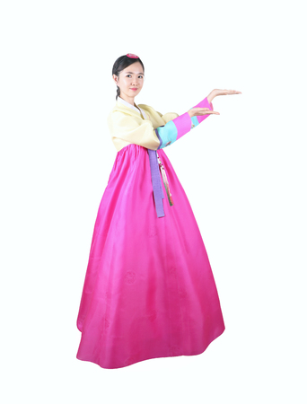 traditional dress: Woman in Korean Traditional Dress Stock Photo