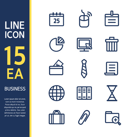expanding: Business line Icon set