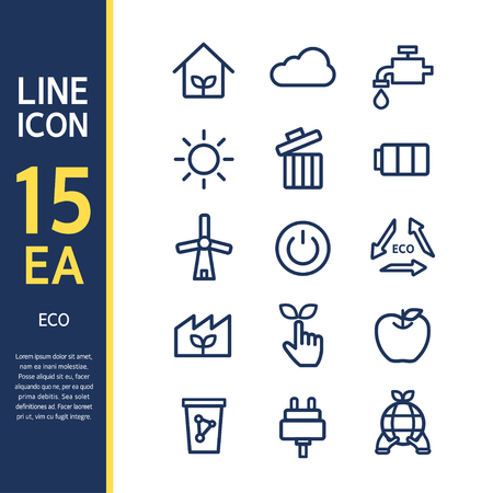psd: Eco line Icon Set
