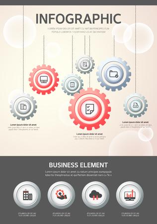 mobil: Infographic illustration Illustration