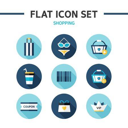 carriers: shopping flat icon Illustration