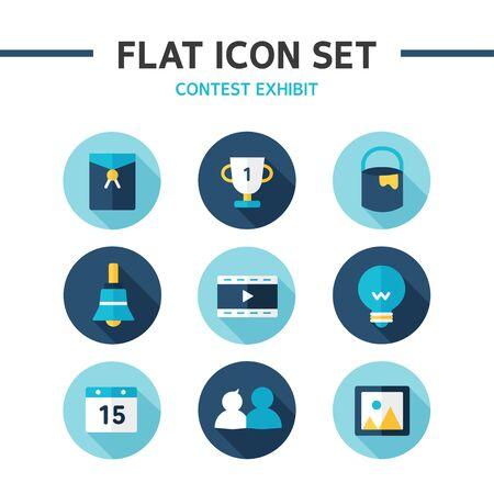 exhibit: flat icon set contest exhibit
