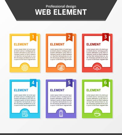 web: Web element design