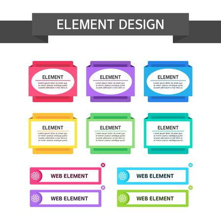 and element: Web element design