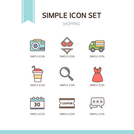 shopping questions: Shopping Simple Icon Set