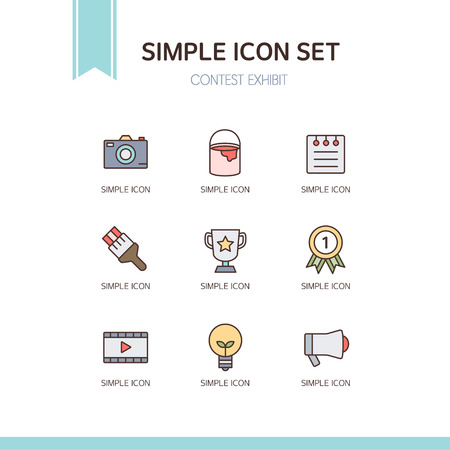 exhibit: contest exhibit simple icon