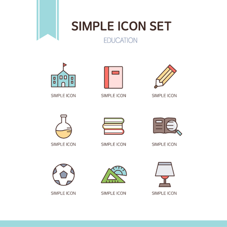 outspread: education simple icon