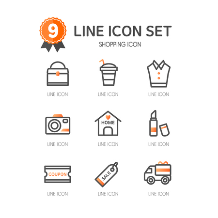 line: Shopping line Icon set