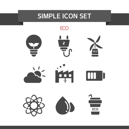 Eco Semplice Icon Set