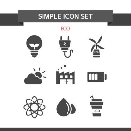 conjugation: Eco Simple Icon Set
