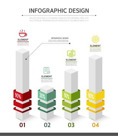 conjugation: Business Info graphics Illustration