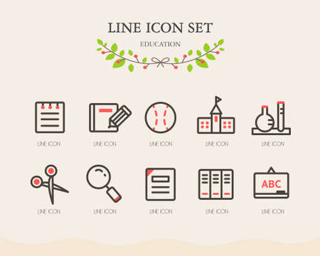 note book: education line icon