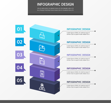 Business Info graphics Illustration