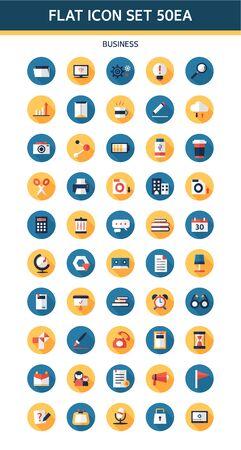conjugation: business flat icon
