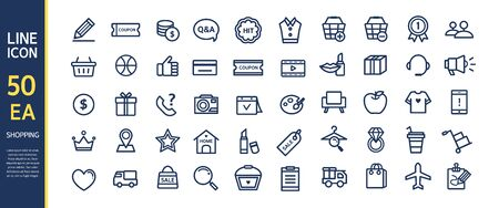 conjugation: shopping line icon