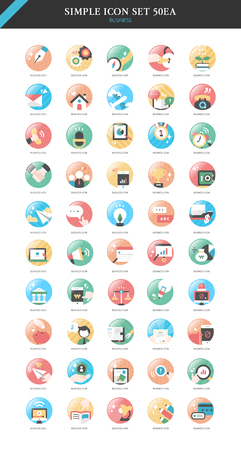 conjugation: business simple icon